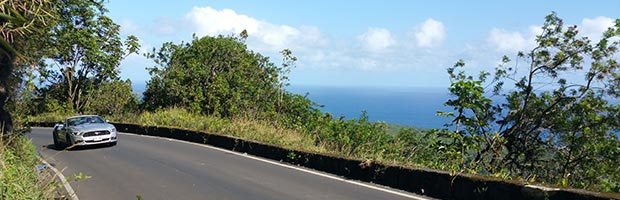 Cabriolet hyrbil på Hawaii