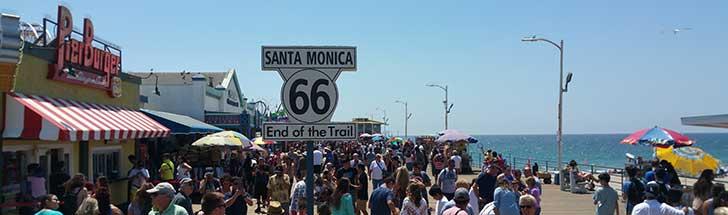 Santa Monica krok upp